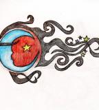 Like Shooting Star Tattoo Design