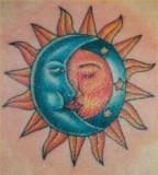 Astonishing Sun Moon And Stars Tattoos