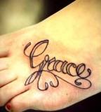 Feet Name Tattoos Design