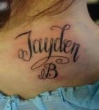 Neck Tattoo Name Design