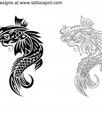 Polynesia Koi Tattoo Images