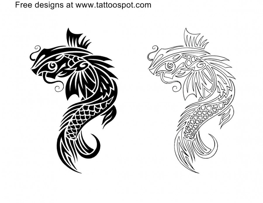 polynesia koi tattoo images tattoomagz. Black Bedroom Furniture Sets. Home Design Ideas