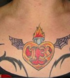 Heart With Wings Tattoo Design For Woman