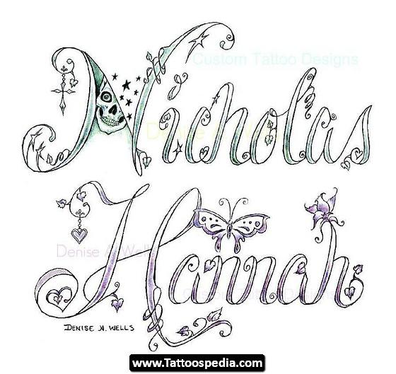 Couple Name Tattoo Design Tattoomagz
