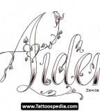 Heart Shaped Name / Lettering Tattoo Design