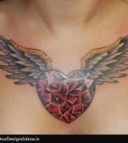 Tattoo Design Of Heart - Chest Tattoos