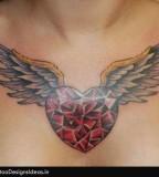 Tattoo Design Of Heart - Chest Tattoos