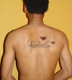 Name Tattoos on Back for Men