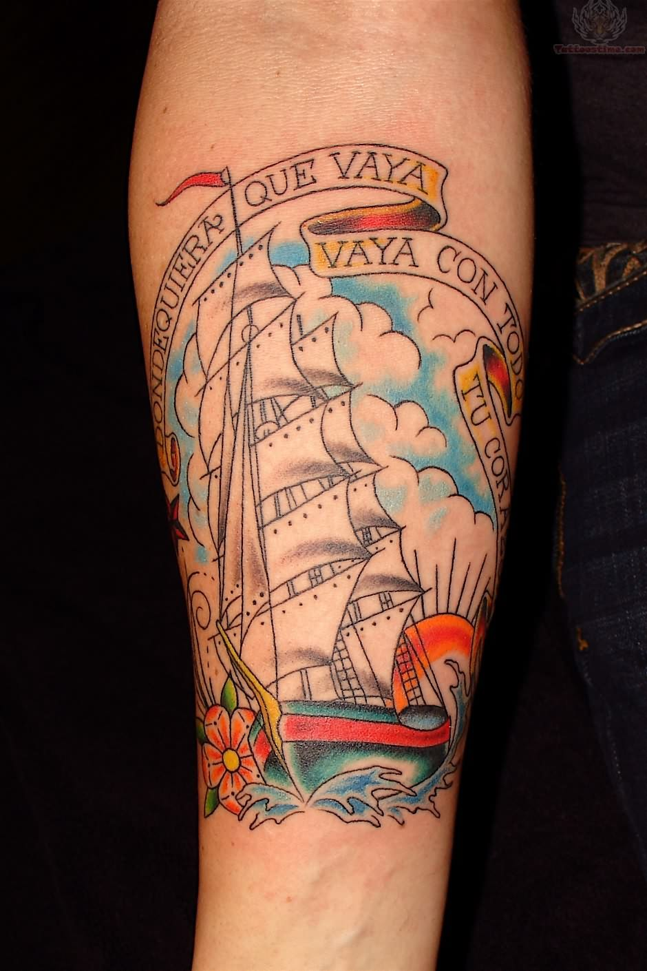 Joey ship tattoo on arm for men tattoomagz for Tattoo pitture