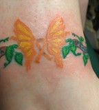 Cute Butterfly Tattoo Design For Girls