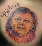Baby Name Tribute Tattoos Design