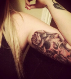 Cool Arms Tattoo Design Idea for Women