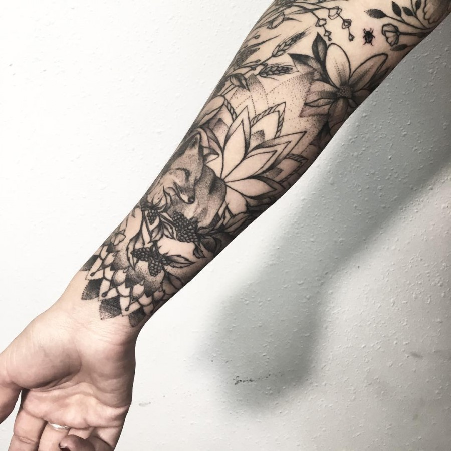 nature-isnpired-sleeve-tattoo-by-v-shevchenko