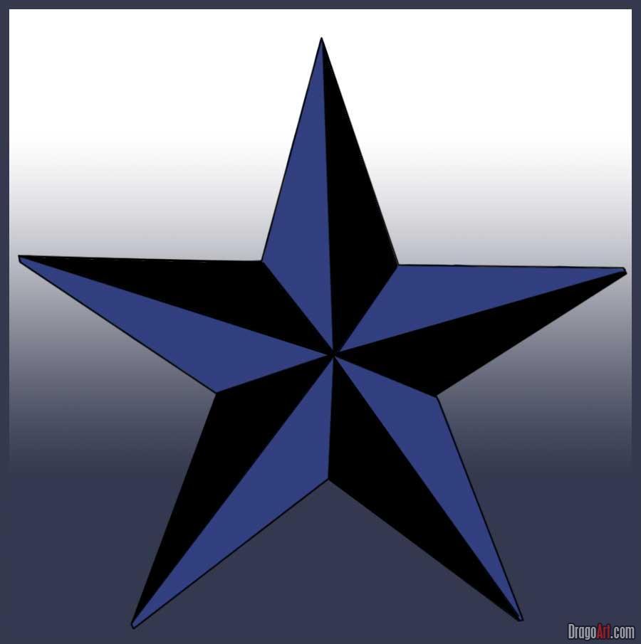 Nautical Star Tattoos Design - TattooMagz