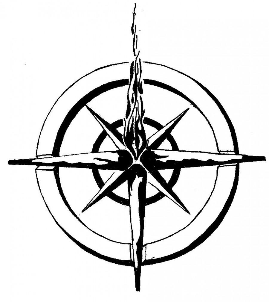 Nautical Star Compass Tattoo