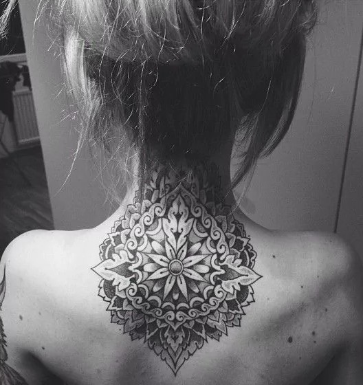 neck mandala tattoo1