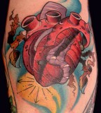 Neotraditional Heart Tattoos