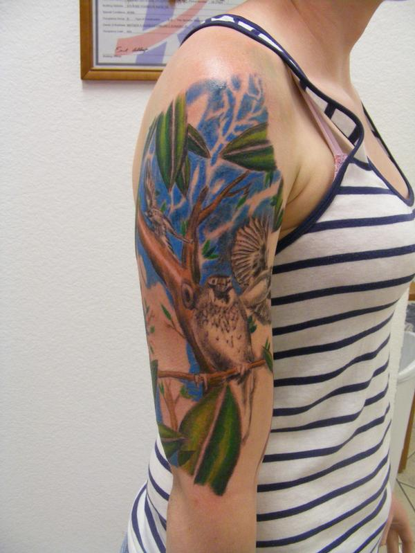 Three little birds women arm tattoo tattoomagz for Painful pleasures tattoo