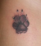 Amazing Dog Paw Print Tattoo Designs