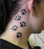 Paw Print Tattoos And Designs Meanings And Ideas For Girls