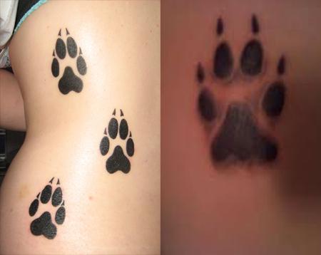 Nice Paw Print Tattoo For Couple - TattooMagz