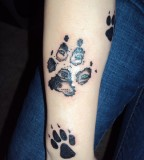 Wolf Paw Print Tattoo Sharp Eyes