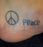Simple Peace Tattoos Pictures And Images Gallery