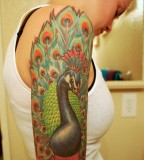 Awesome Peacock Tattoos For Women