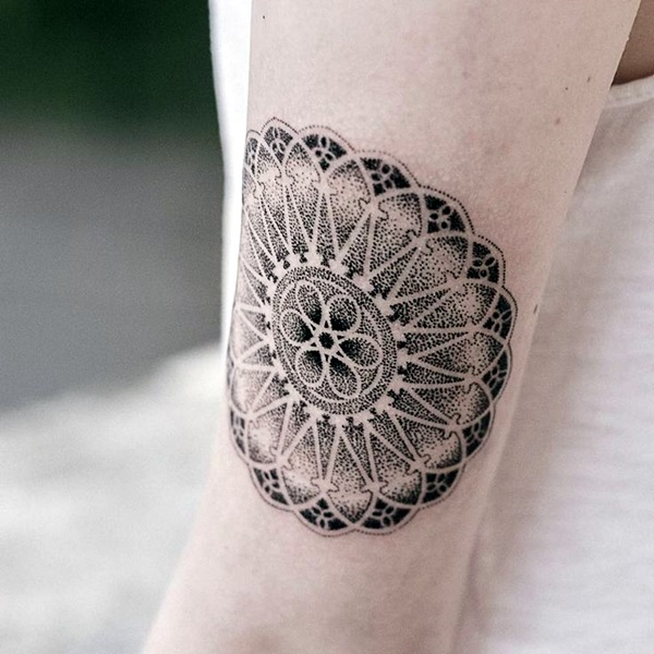 phenomenal dotwork mandala tattoo