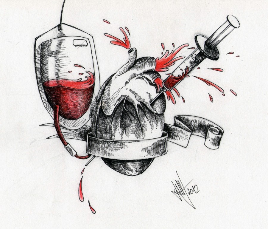 Drawing Scheme Heart Tattoo Pictures - TattooMagz
