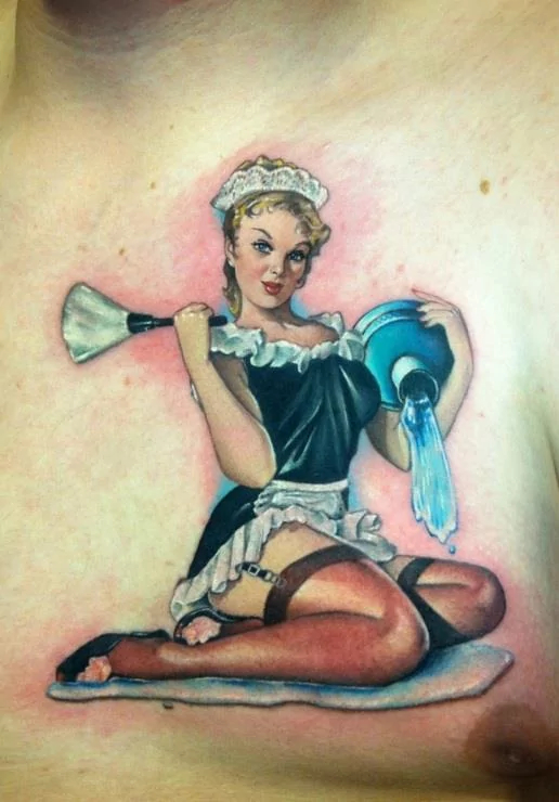 pin up tattoos for men