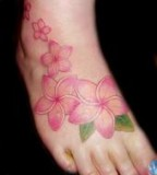 Exquisite Plumeria Tattoo Design for Girl