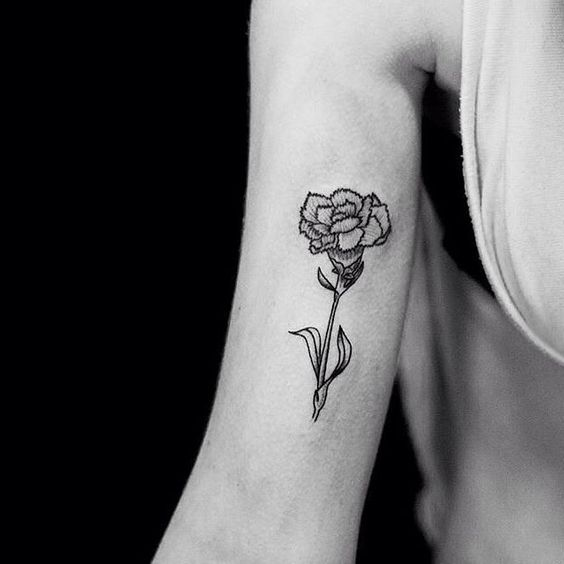 pretty arm flower tattoo