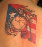 Stunning Art Puerto Rican Flag Tattoo