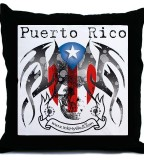 Puerto Rico Flag Skeleton Tattoo Sketch