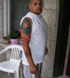 Puerto Rican Flag Long Sleeve Tattoo Idea for Men