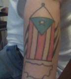 Half Sleeve Puerto Rican Flag Tattoo