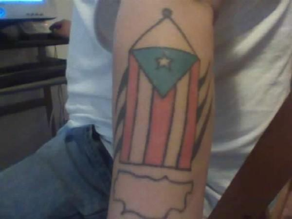 Puerto Rican Flag Tattoos for Men