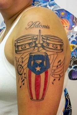 stunning musical theme puerto rican flag tattoo design tattoomagz. Black Bedroom Furniture Sets. Home Design Ideas