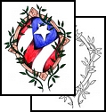 Awesome Puerto Rican Flag Sketches for Tattoo