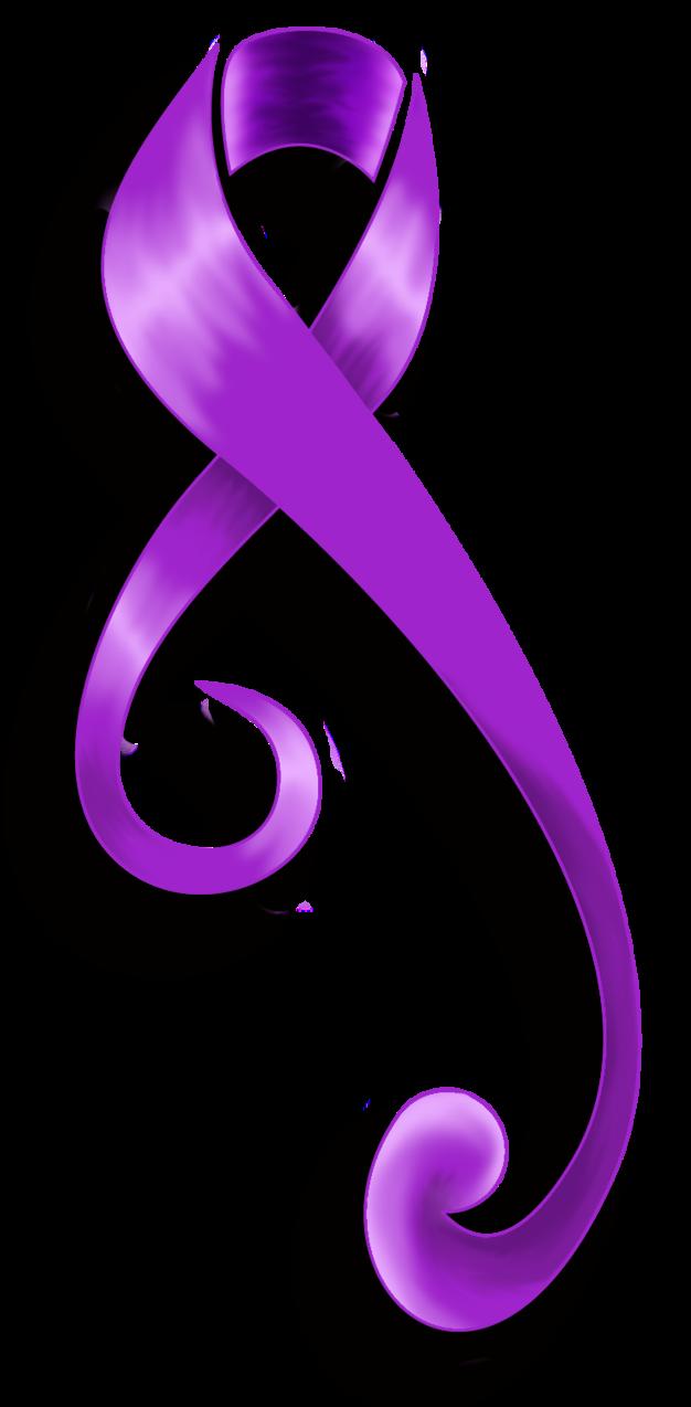 purple ribbon tattoo sample by broxu tattoomagz