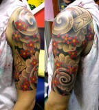 Awesome 3D Quarter Sleeve Tattoo
