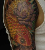 Chinese Fish Koi Quarter Sleeve Tattoos