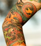 Dragon Fire Tattoo Sleeve Ideas For Girls