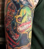 Cartoon Tattoo Shoulder - Arm Ideas