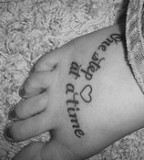 Excellent Quote Foot Tattoo Wallpaper
