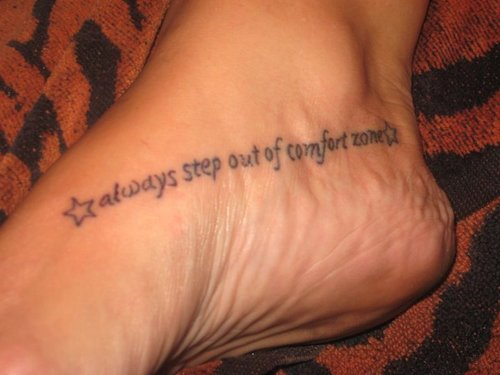 Inspirational Tattoo Words Ideas: Women With Gorgeous Quote Foot Tattoo Ideas