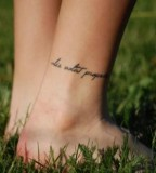 Creative Quotes Tattoo Style On Foot For Girls