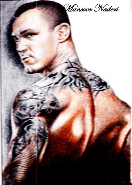 Randy Orton Tattoos Sleeves Skull