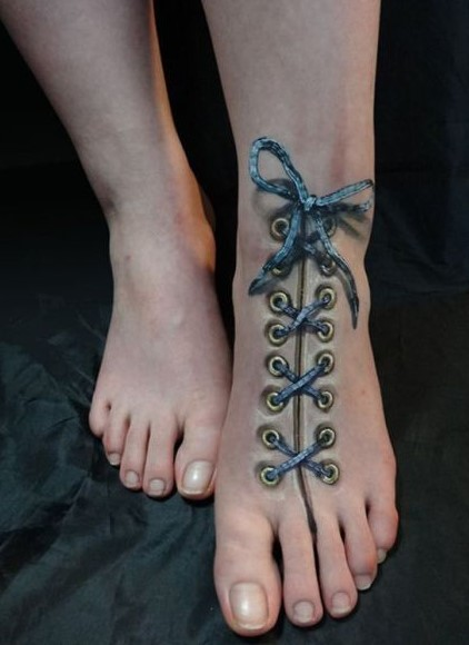realistic foot tattoos for women